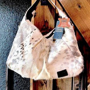 American Darling Moon Purse Cowhide Brindle Bag